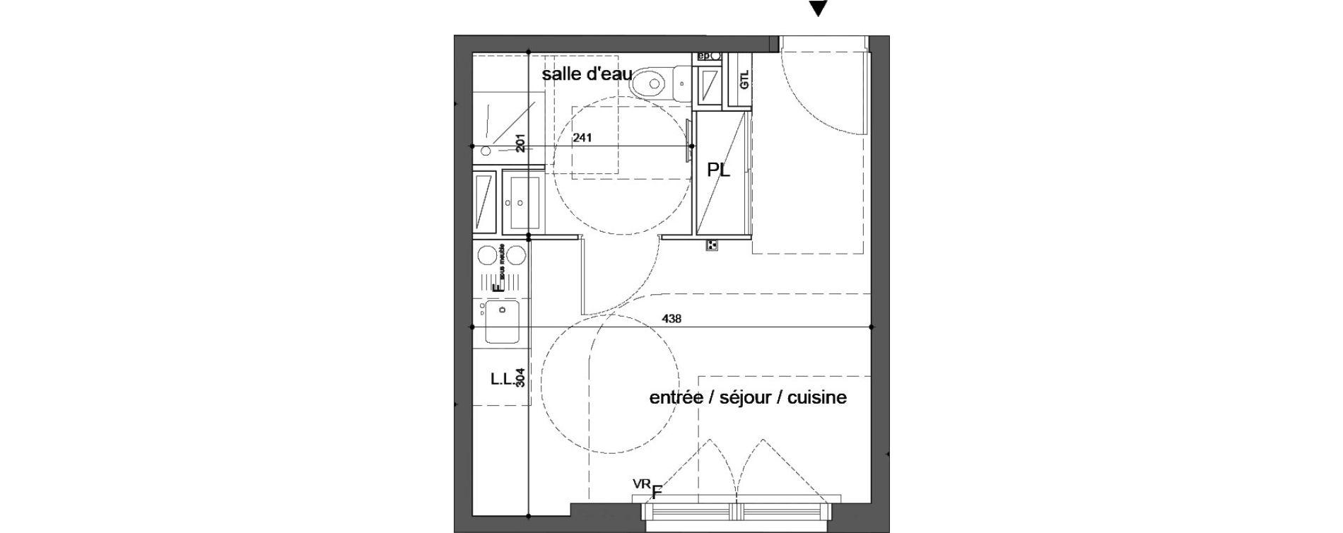 Plan T1 neuf à Melun de