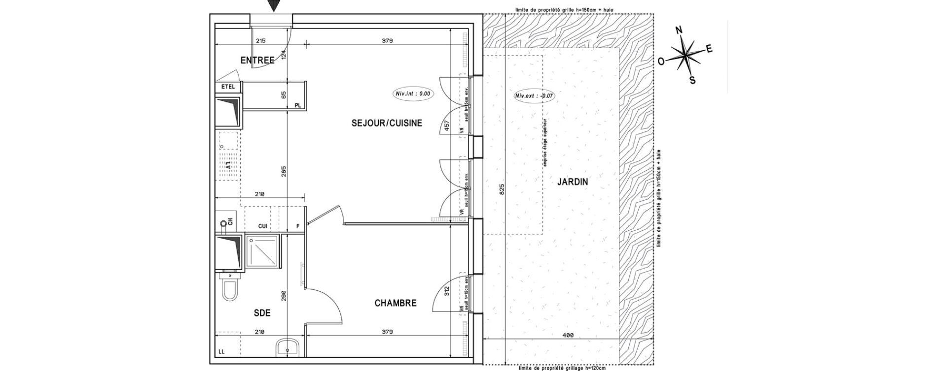 Appartement T2 de 43,99 m2 à Melun Centre