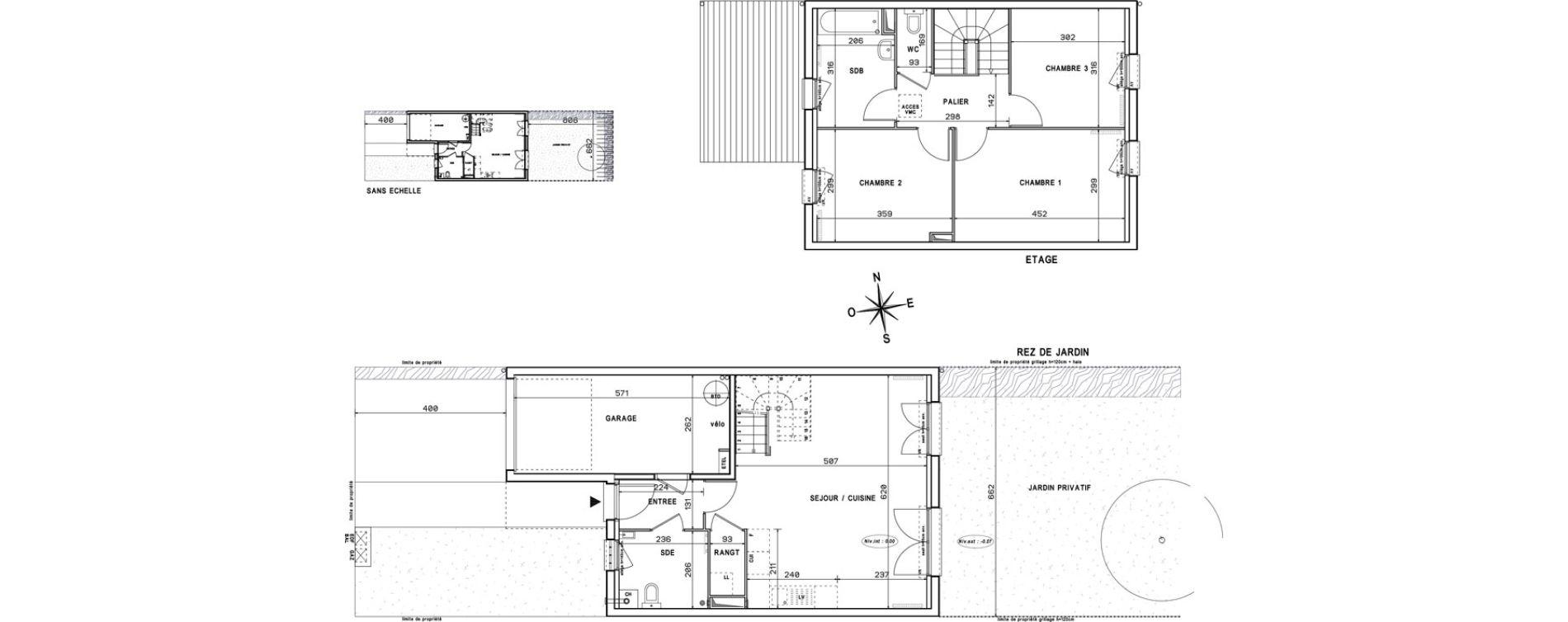 Maison T4 de 84,28 m2 à Melun Centre