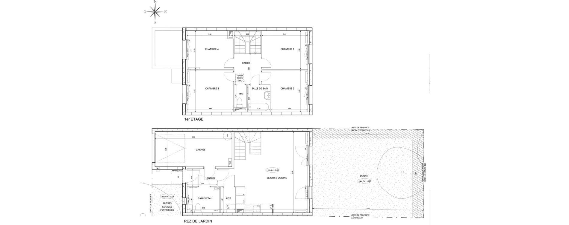 Appartement T5 de 90,86 m2 à Melun Centre