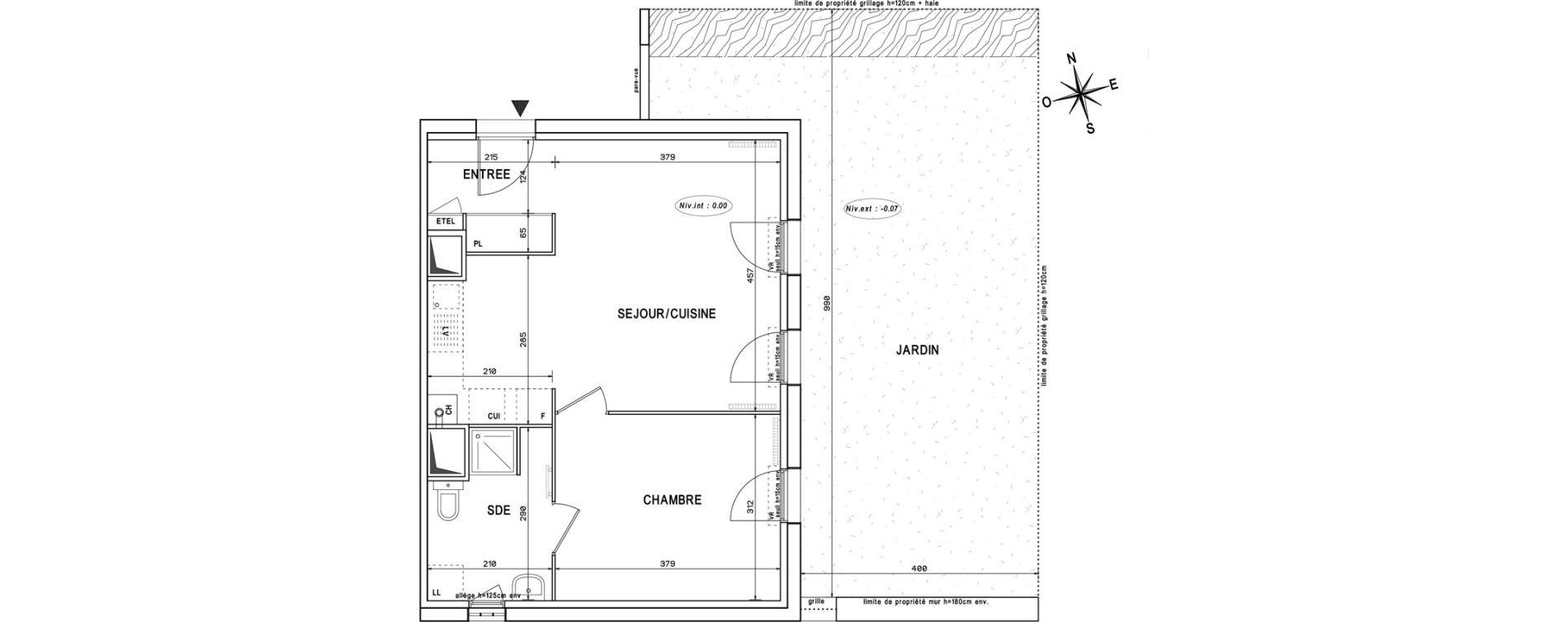Appartement T2 de 44,11 m2 à Melun Centre