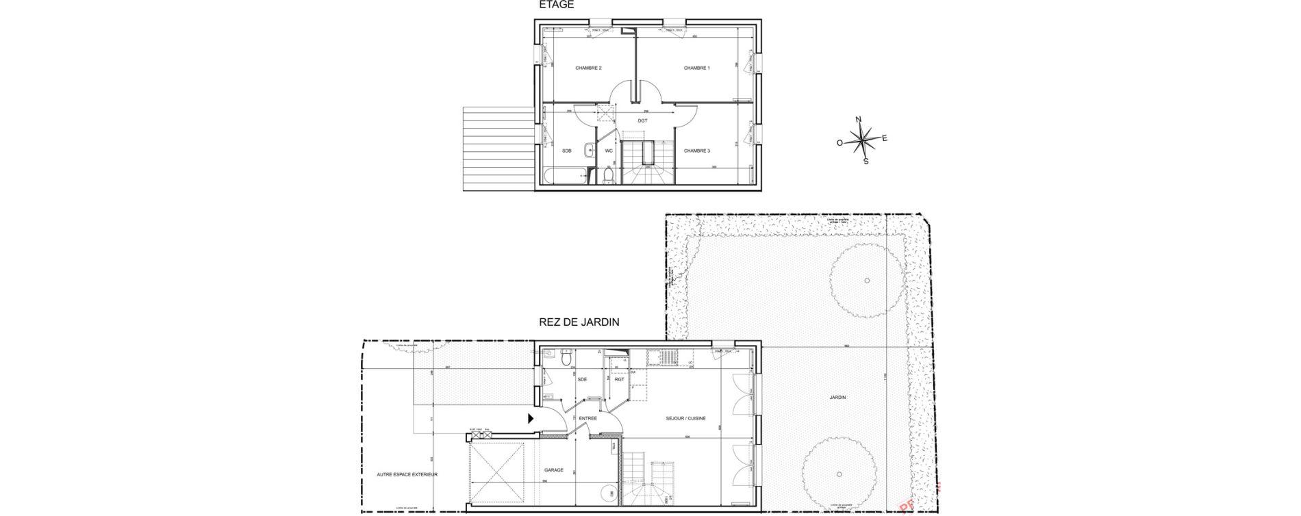 Maison T4 de 82,48 m2 à Melun Centre