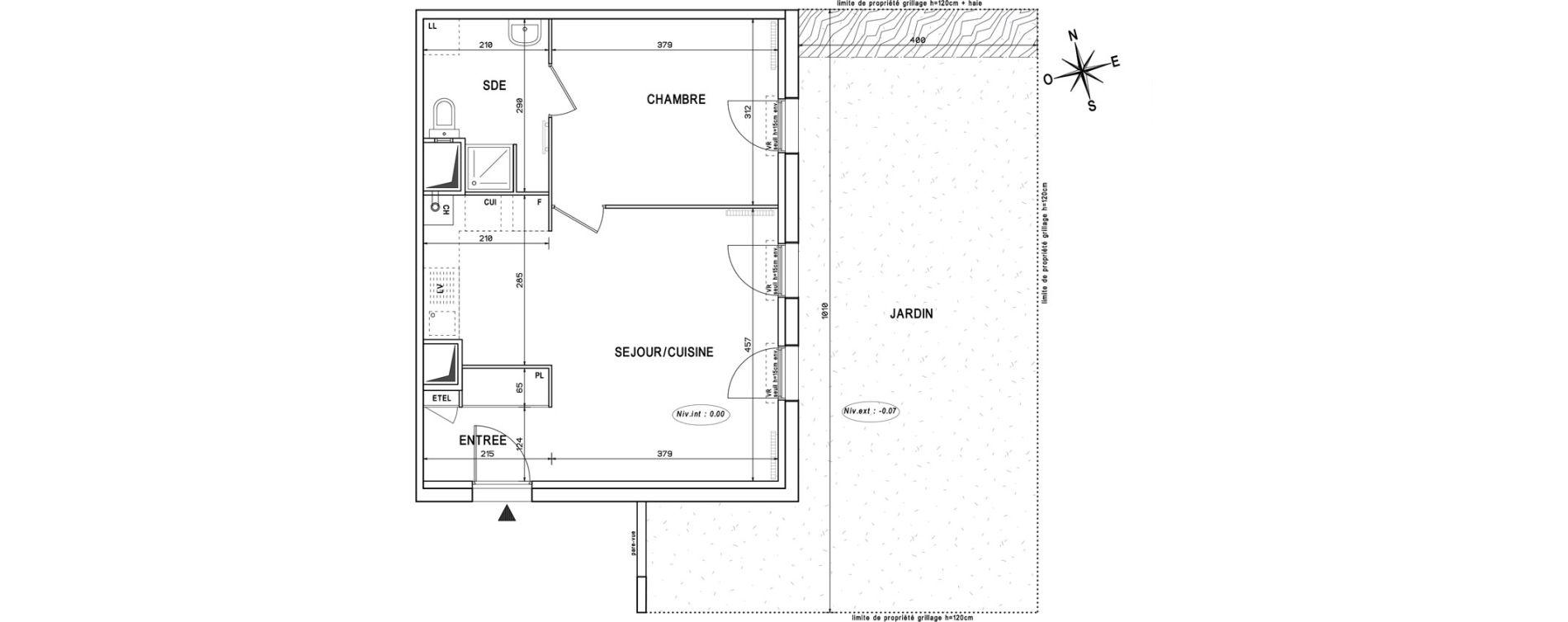 Appartement T2 de 44,03 m2 à Melun Centre