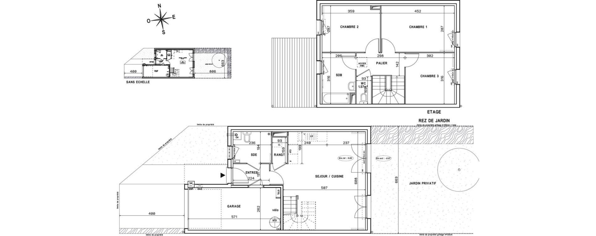 Appartement T4 de 82,35 m2 à Melun Centre