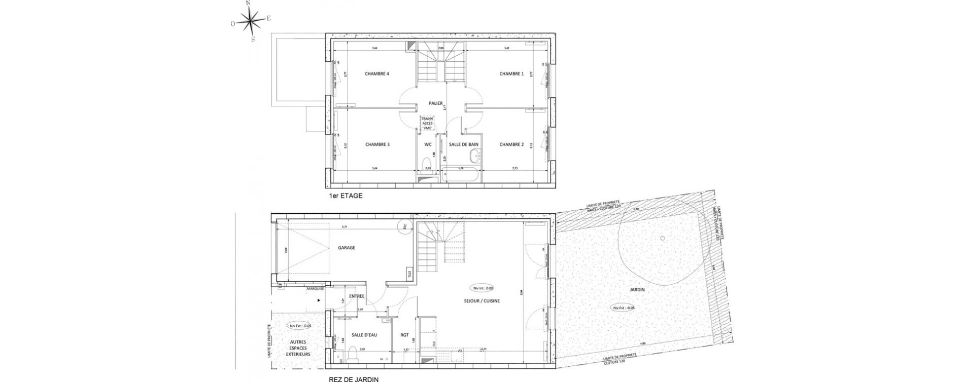 Maison T5 de 89,29 m2 à Melun Centre