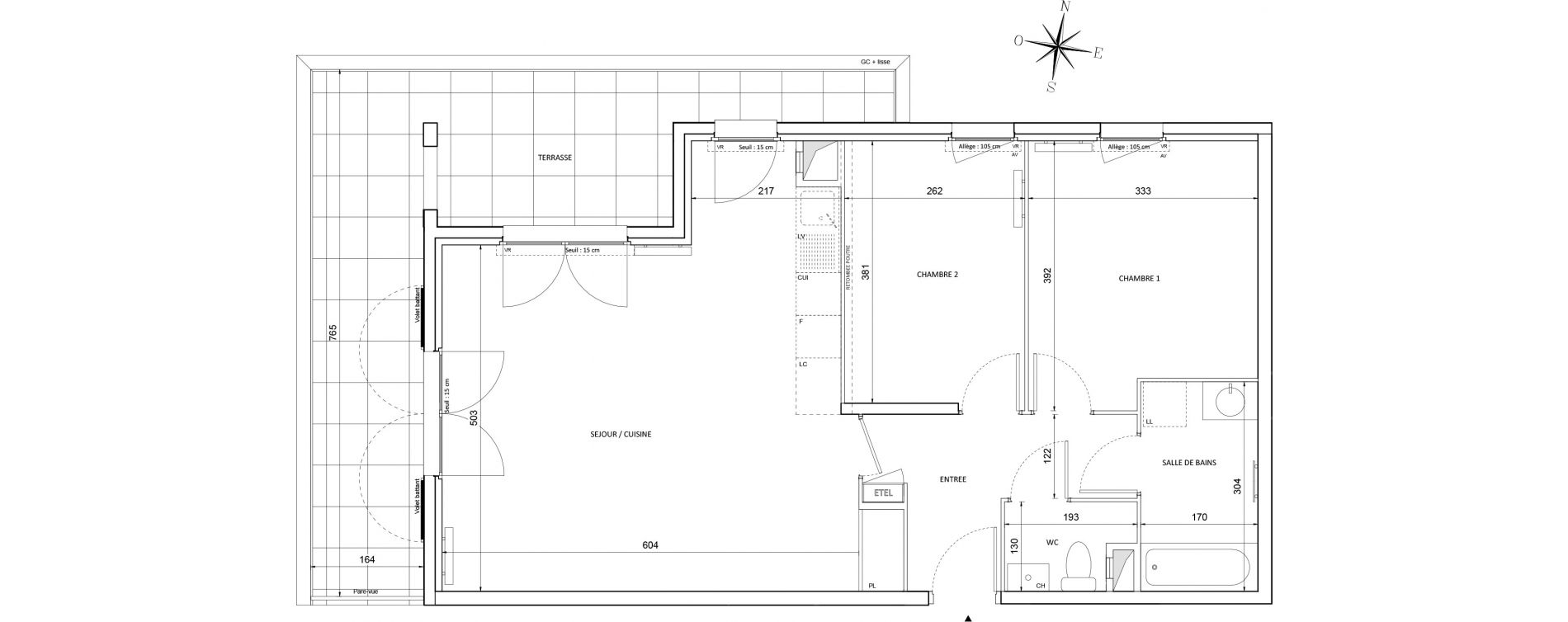 Appartement T3 de 69,72 m2 à Melun Centre