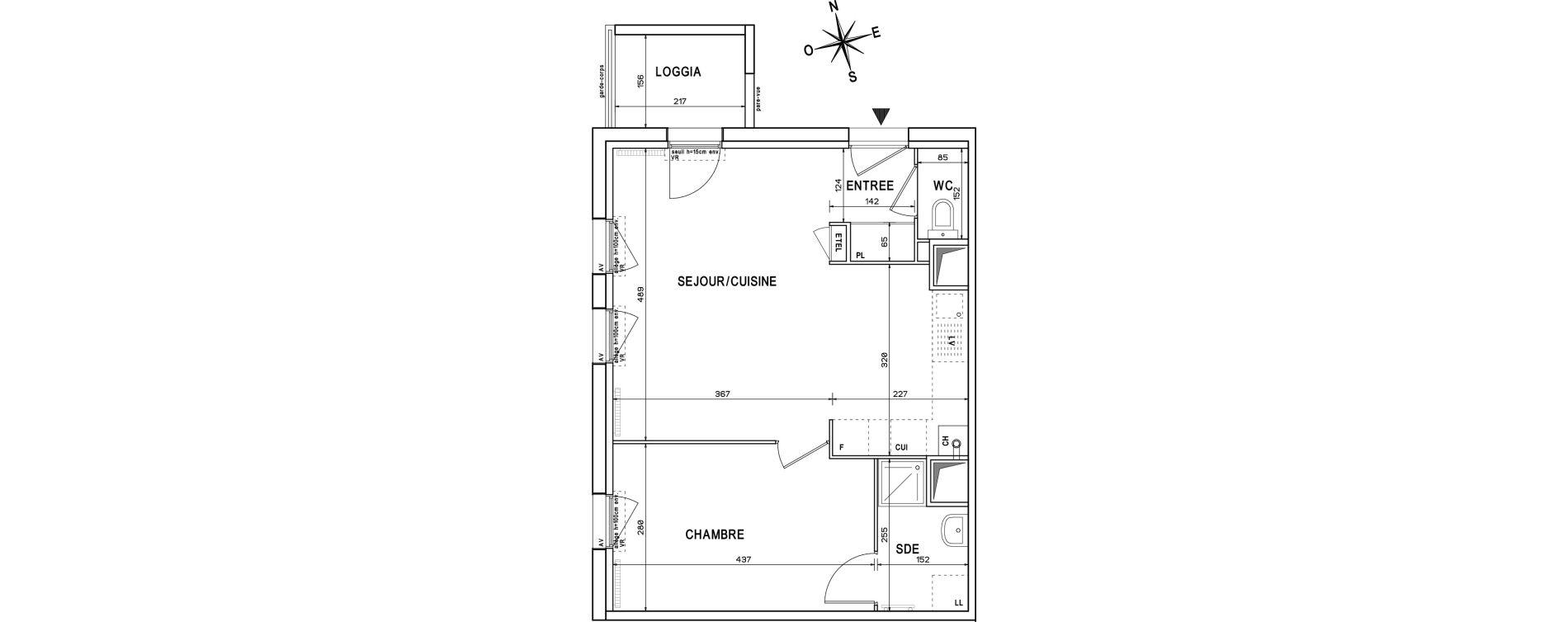 Appartement T2 de 43,94 m2 à Melun Centre