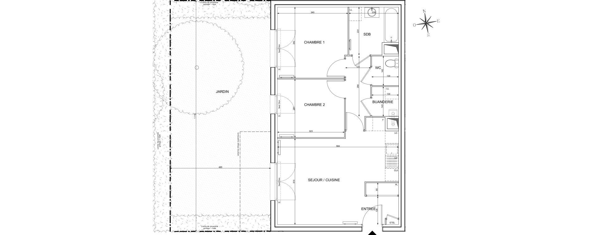 Appartement T3 de 58,96 m2 à Melun Centre