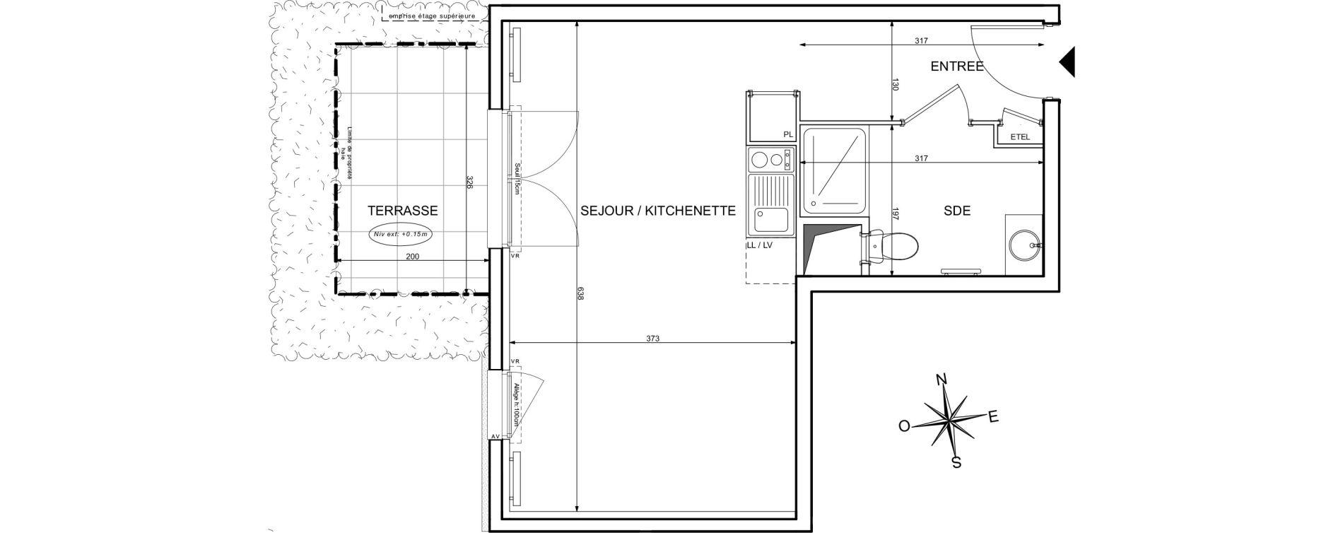 Appartement T1 de 33,25 m2 à Melun Centre