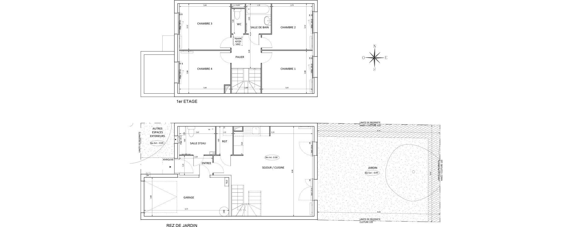 Maison T5 de 90,86 m2 à Melun Centre