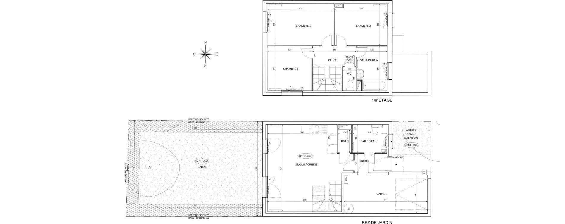 Appartement T4 de 81,00 m2 à Melun Centre