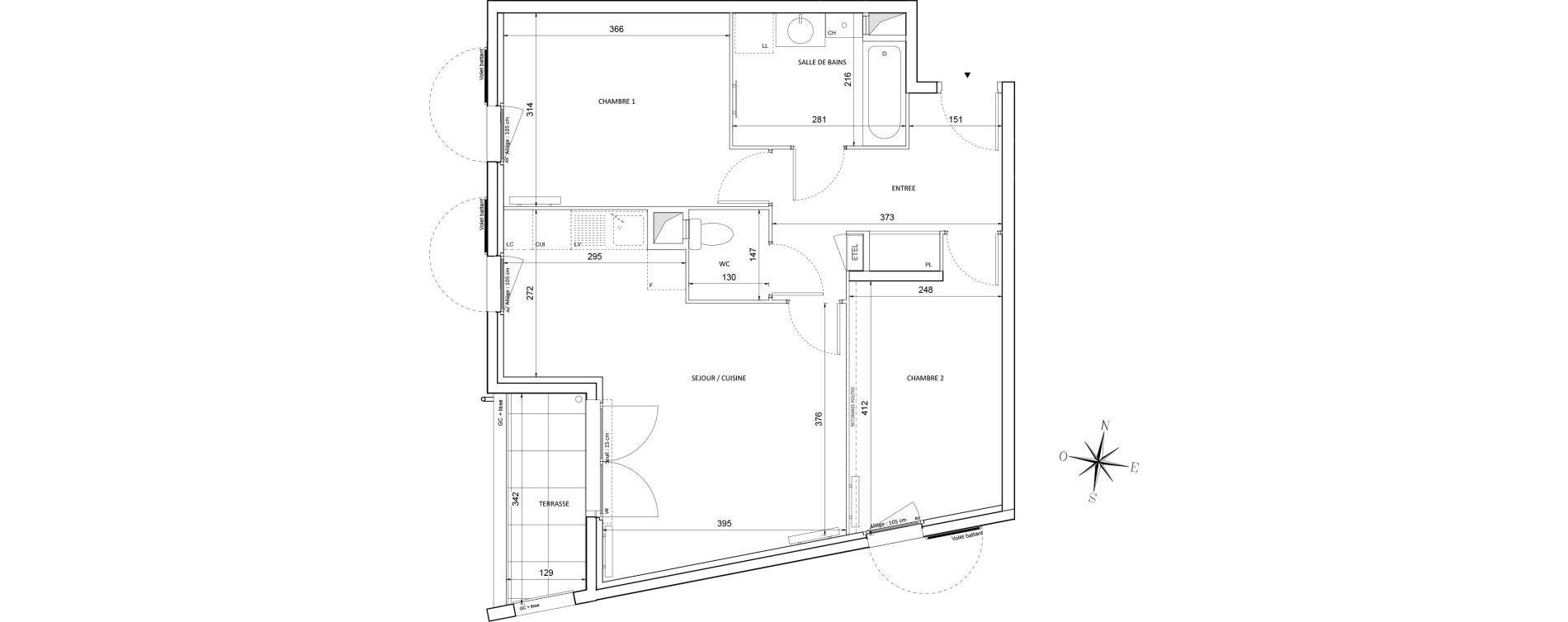 Appartement T3 de 61,07 m2 à Melun Centre