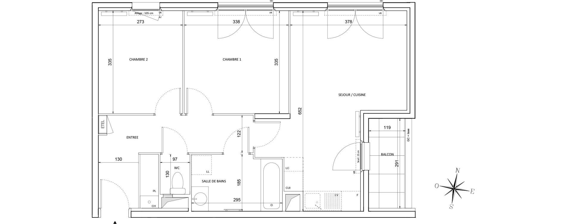 Appartement T3 de 57,72 m2 à Melun Centre