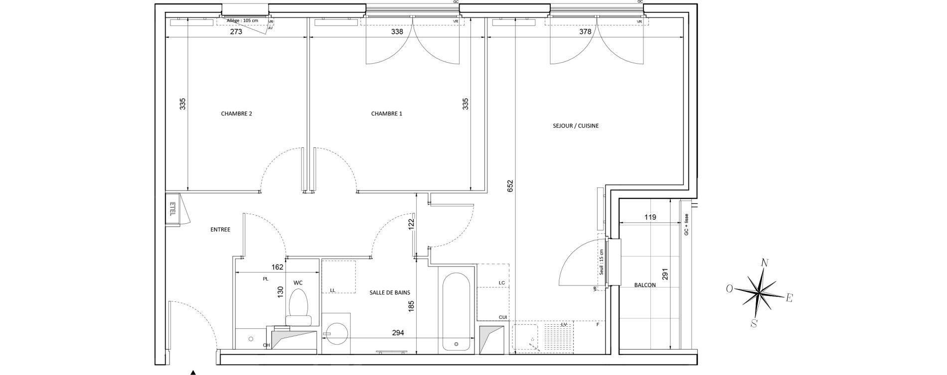 Appartement T3 de 57,82 m2 à Melun Centre