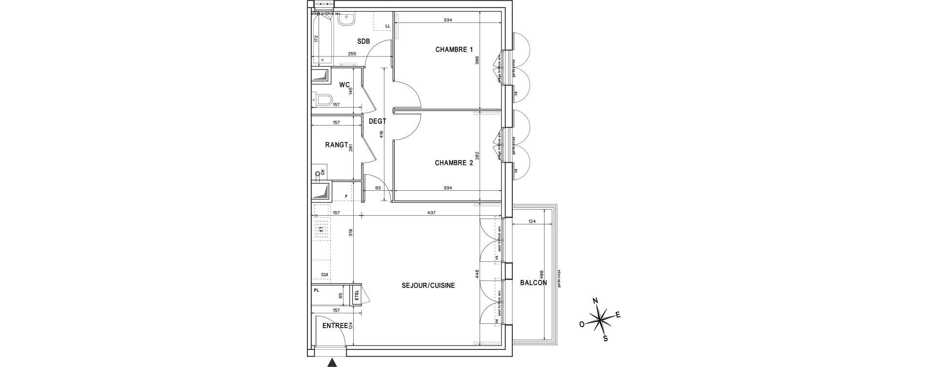Appartement T3 de 59,91 m2 à Melun Centre