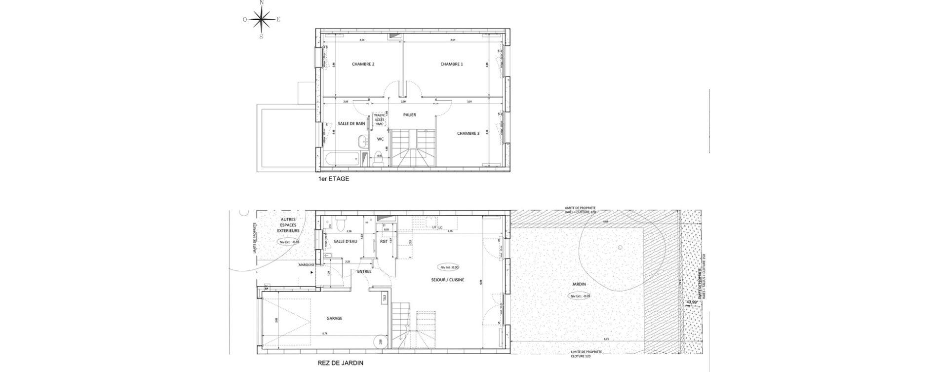 Maison T4 de 82,55 m2 à Melun Centre