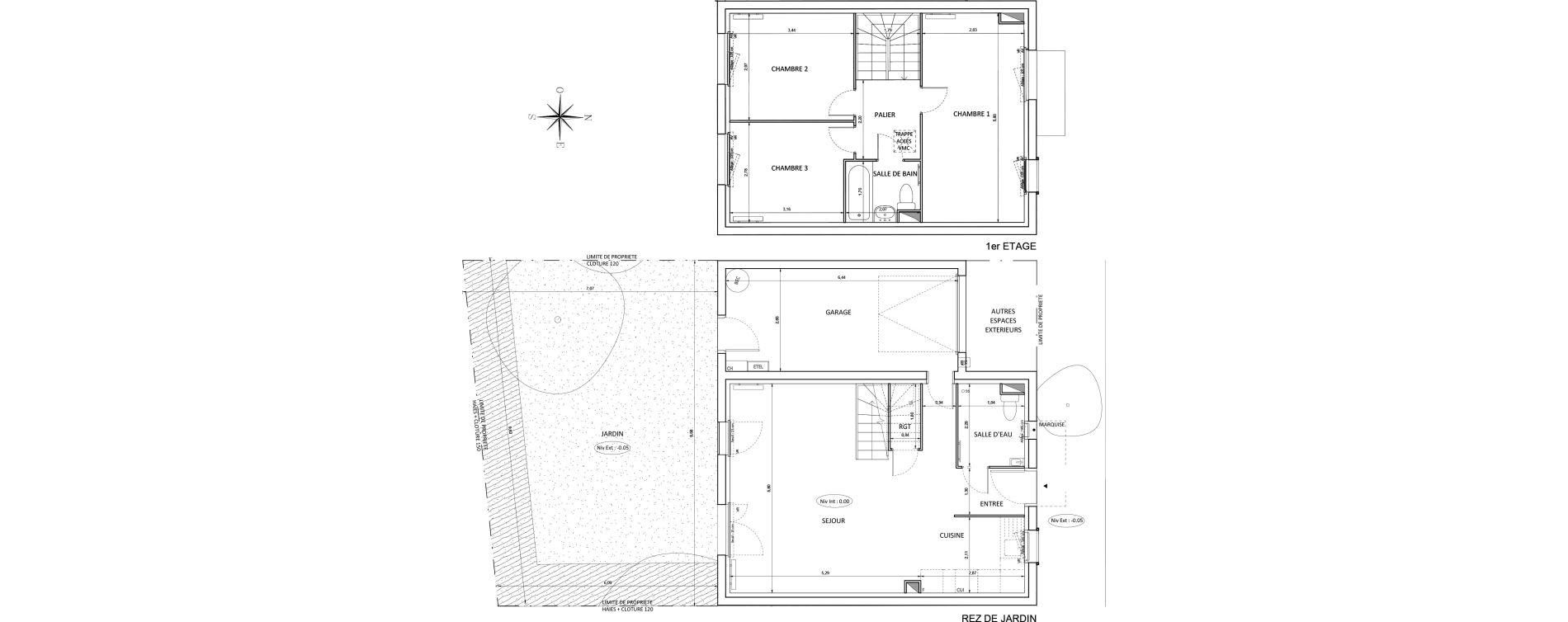 Maison T4 de 87,27 m2 à Melun Centre