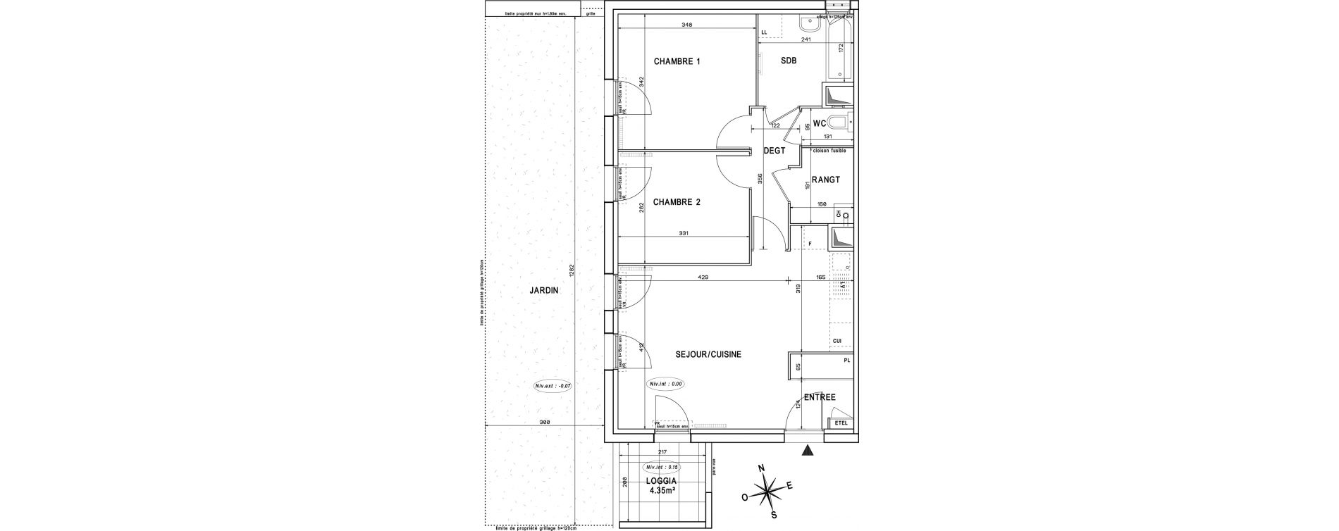 Appartement T3 de 59,75 m2 à Melun Centre