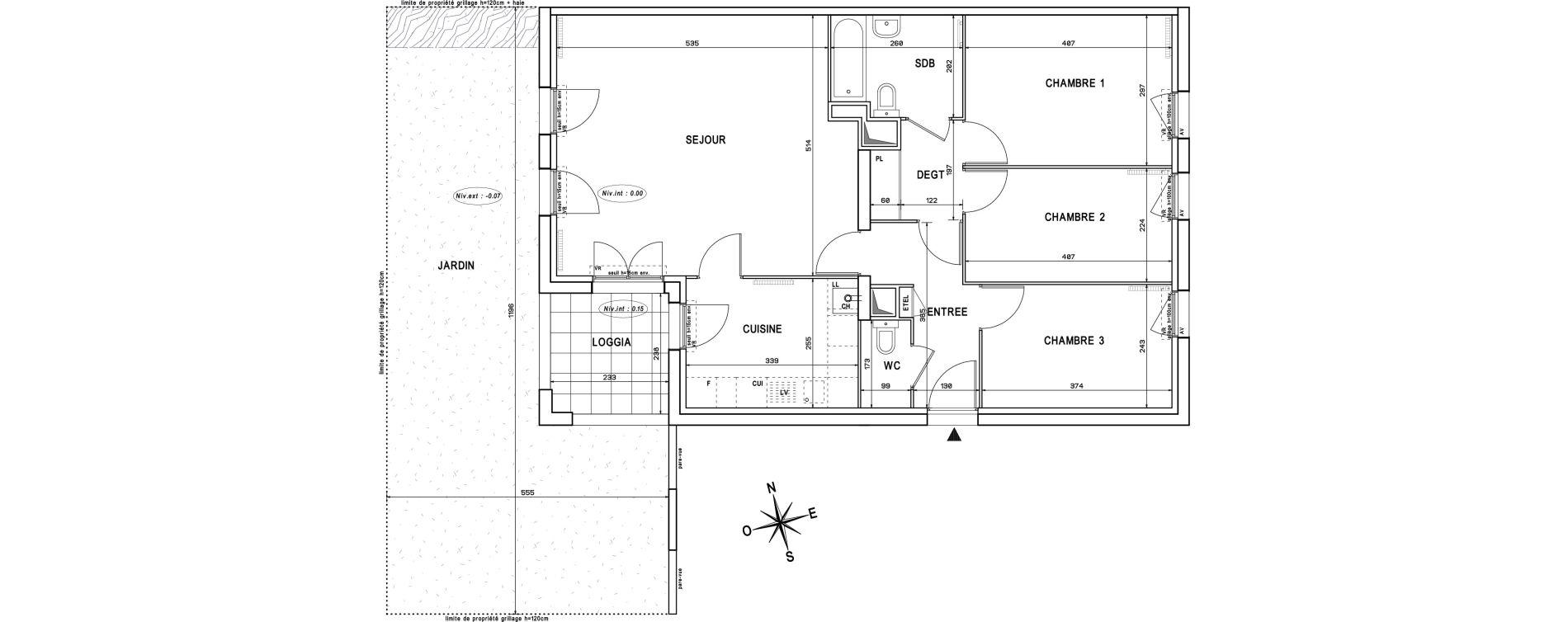 Appartement T4 de 83,57 m2 à Melun Centre