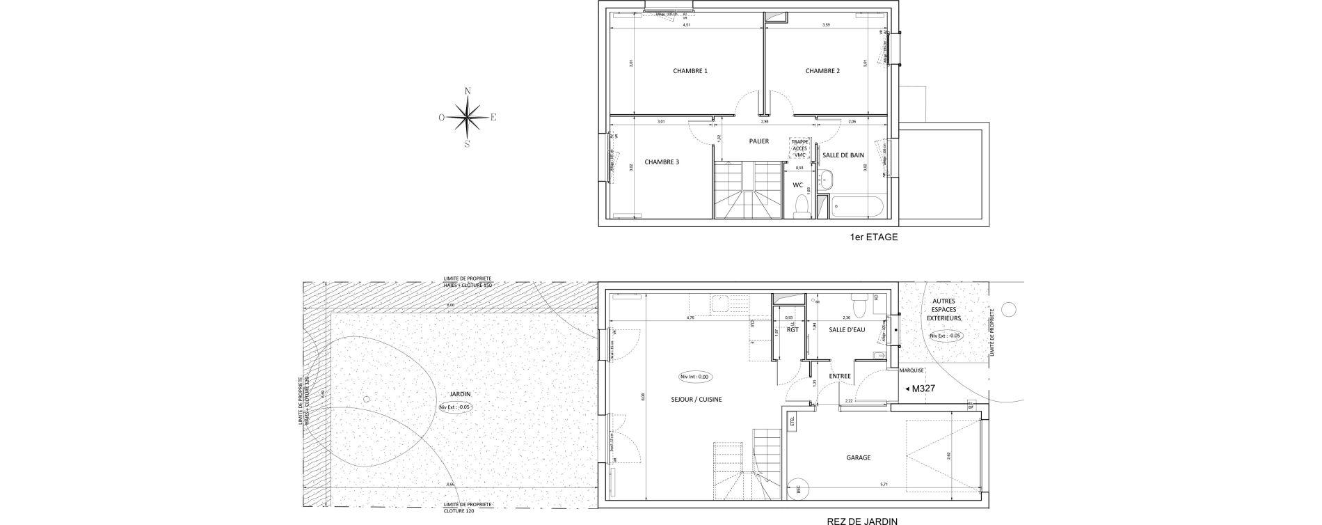 Maison T4 de 82,86 m2 à Melun Centre