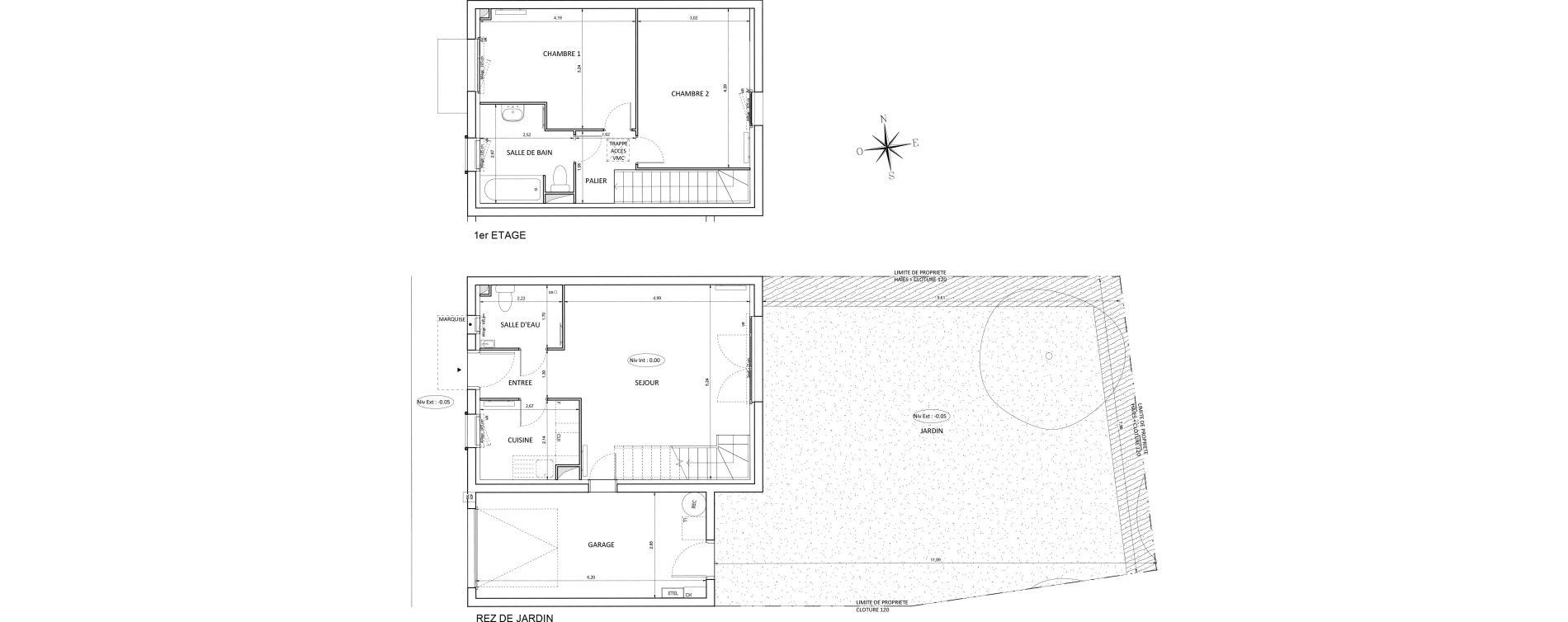 Maison T3 de 68,74 m2 à Melun Centre