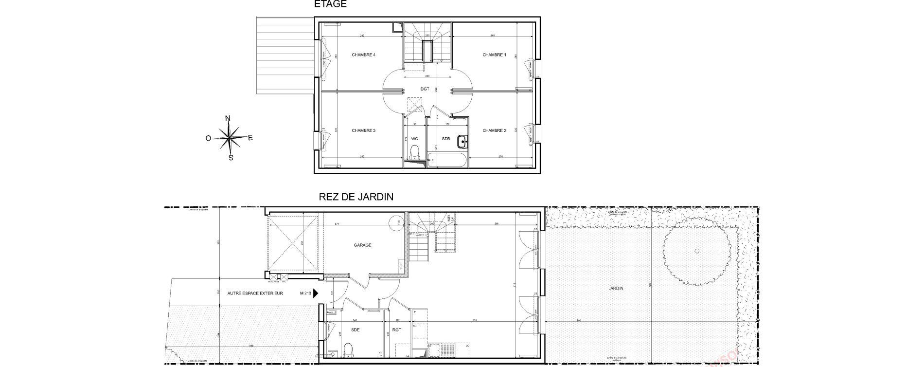 Maison T5 de 92,52 m2 à Melun Centre