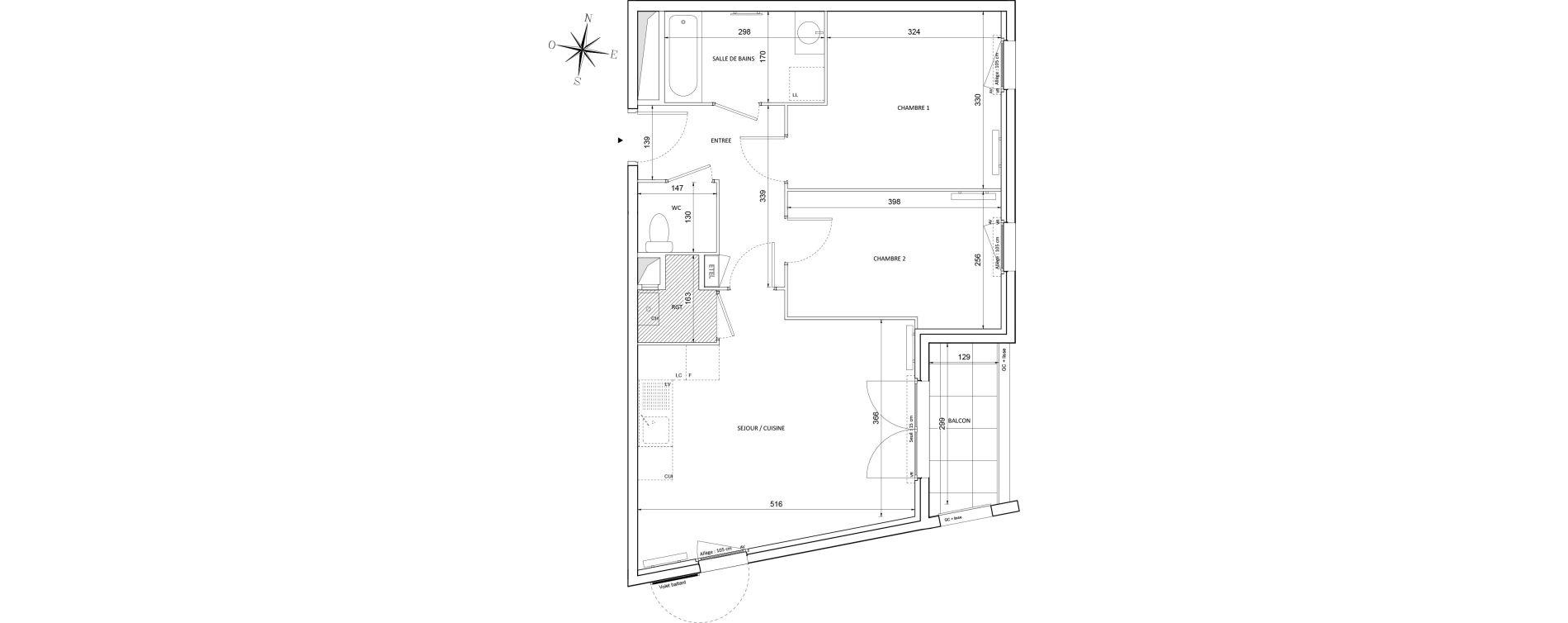 Appartement T3 de 58,19 m2 à Melun Centre