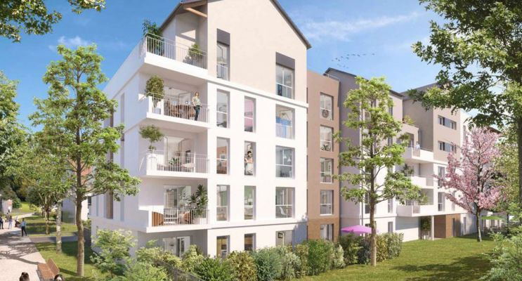 Melun : programme immobilier neuf « Central Nature » en Loi Pinel