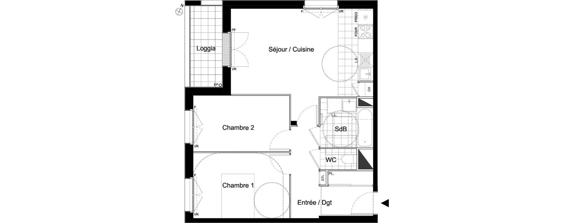 Appartement T3 de 60,07 m2 à Moissy-Cramayel Centre