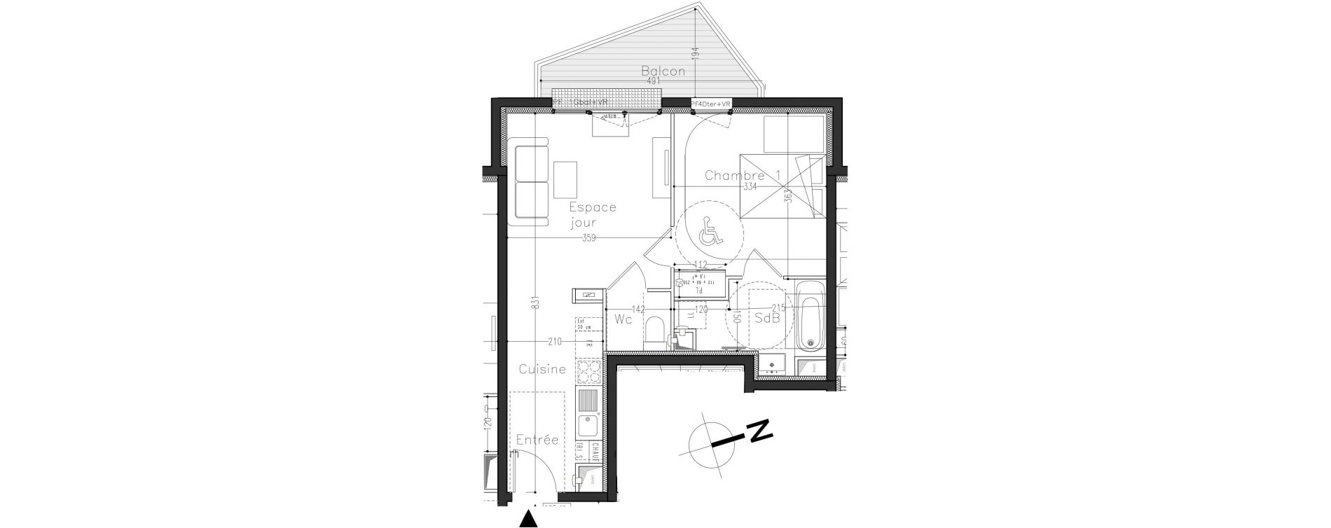 Appartement T2 de 41,30 m2 à Moissy-Cramayel L arboretum de chanteloup