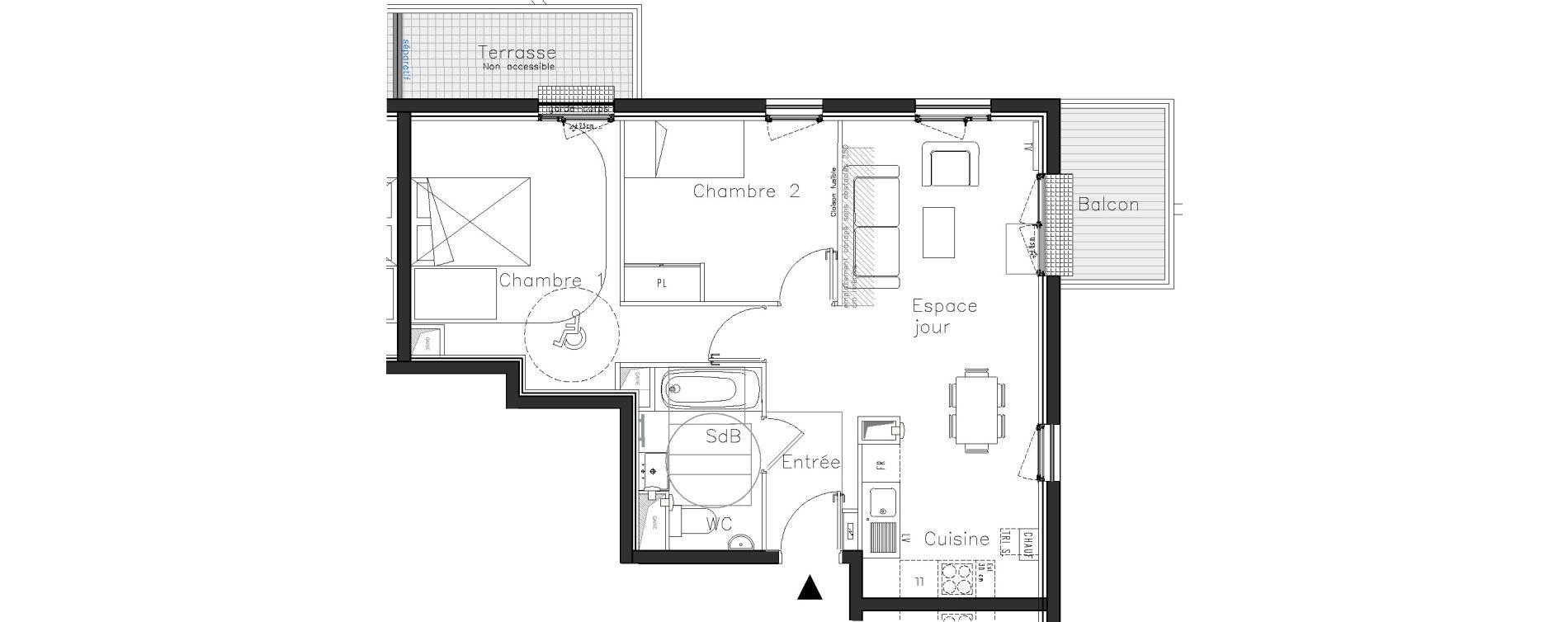 Plan T3 neuf à Moissy-Cramayel de