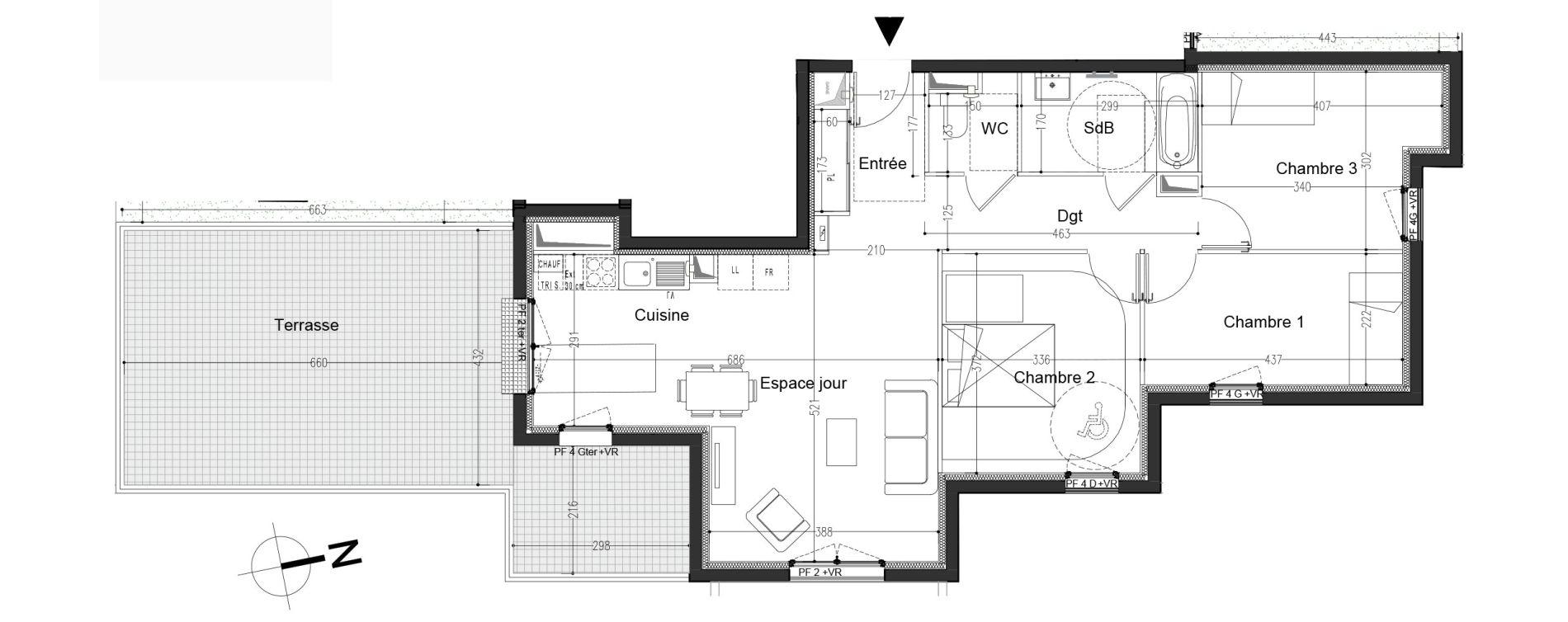 Appartement T4 de 79,90 m2 à Moissy-Cramayel L arboretum de chanteloup