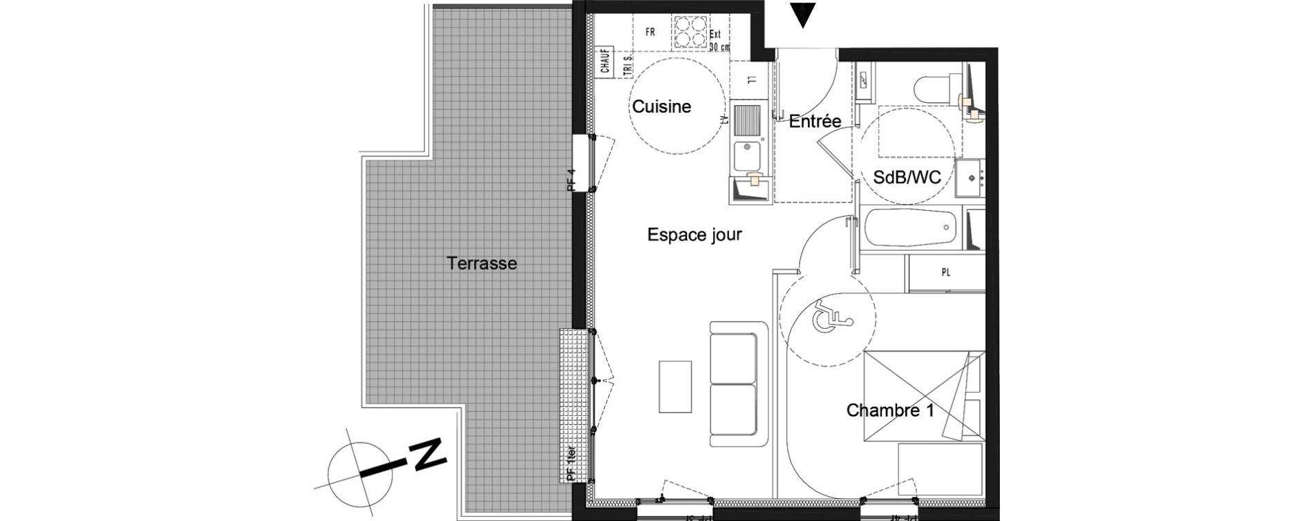 Appartement T2 de 41,20 m2 à Moissy-Cramayel L arboretum de chanteloup
