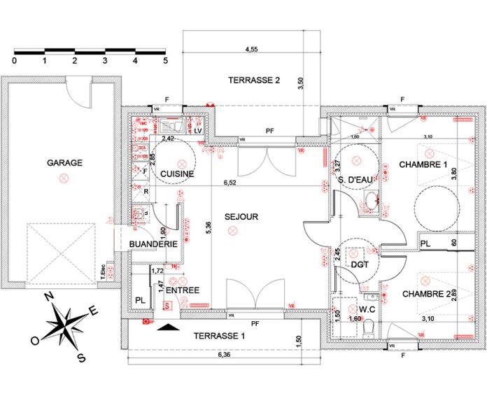 Maison t3 nandy n 955 e les senioriales de nandy for Plan maison t3