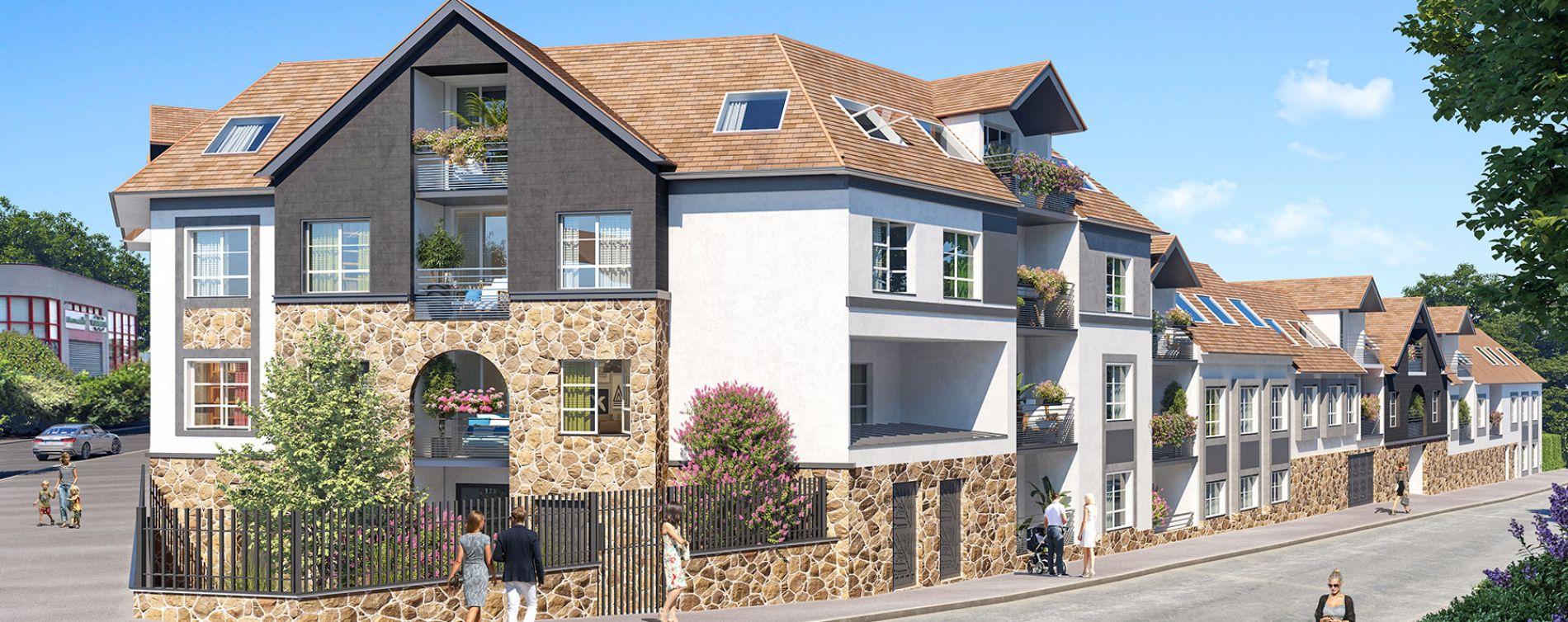 Pontault-Combault : programme immobilier neuve « Les Jardins de la Fontaine Lucas »