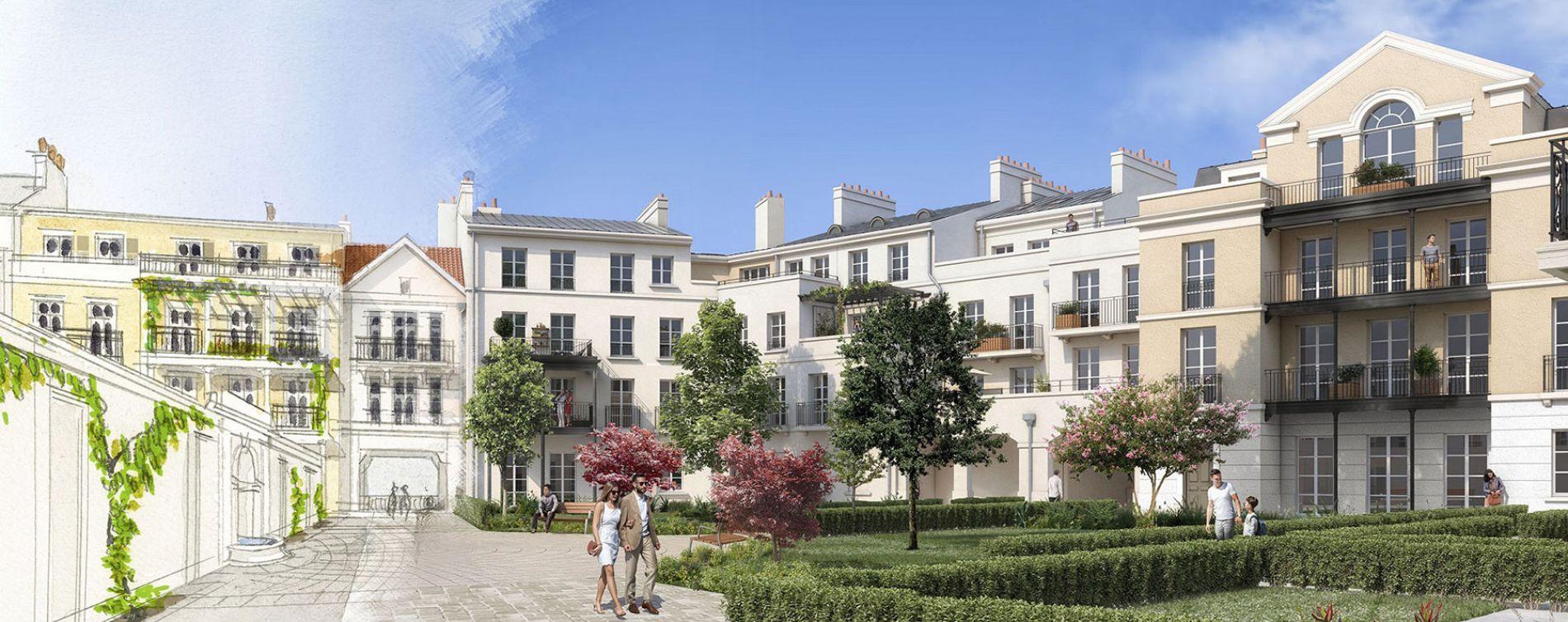 Serris : programme immobilier neuve « Au temps du Faubourg » en Loi Pinel