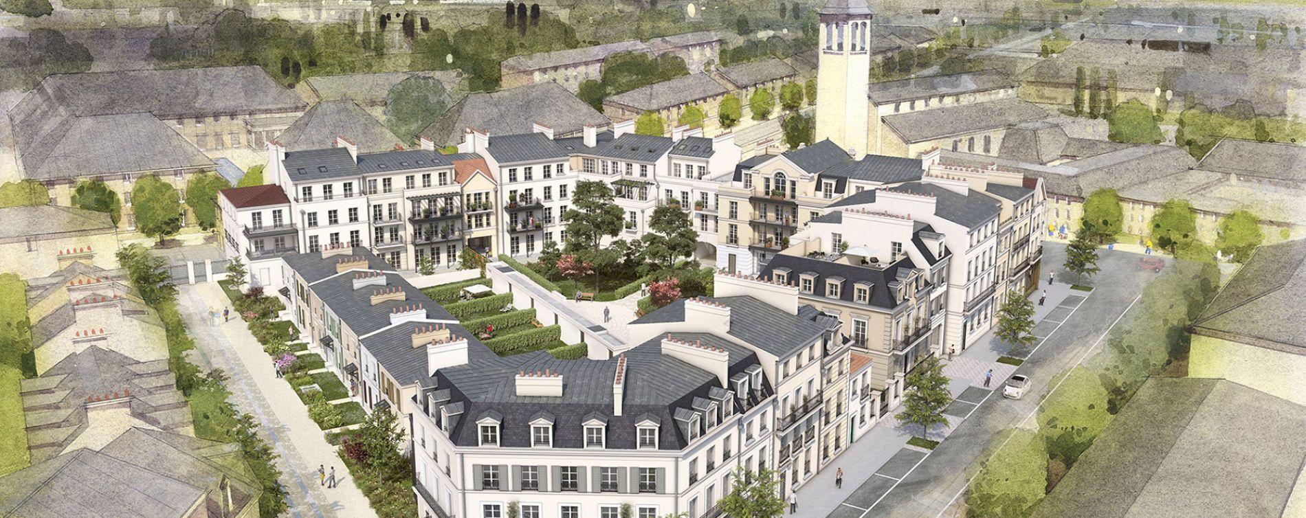 Serris : programme immobilier neuve « Au temps du Faubourg » en Loi Pinel (2)