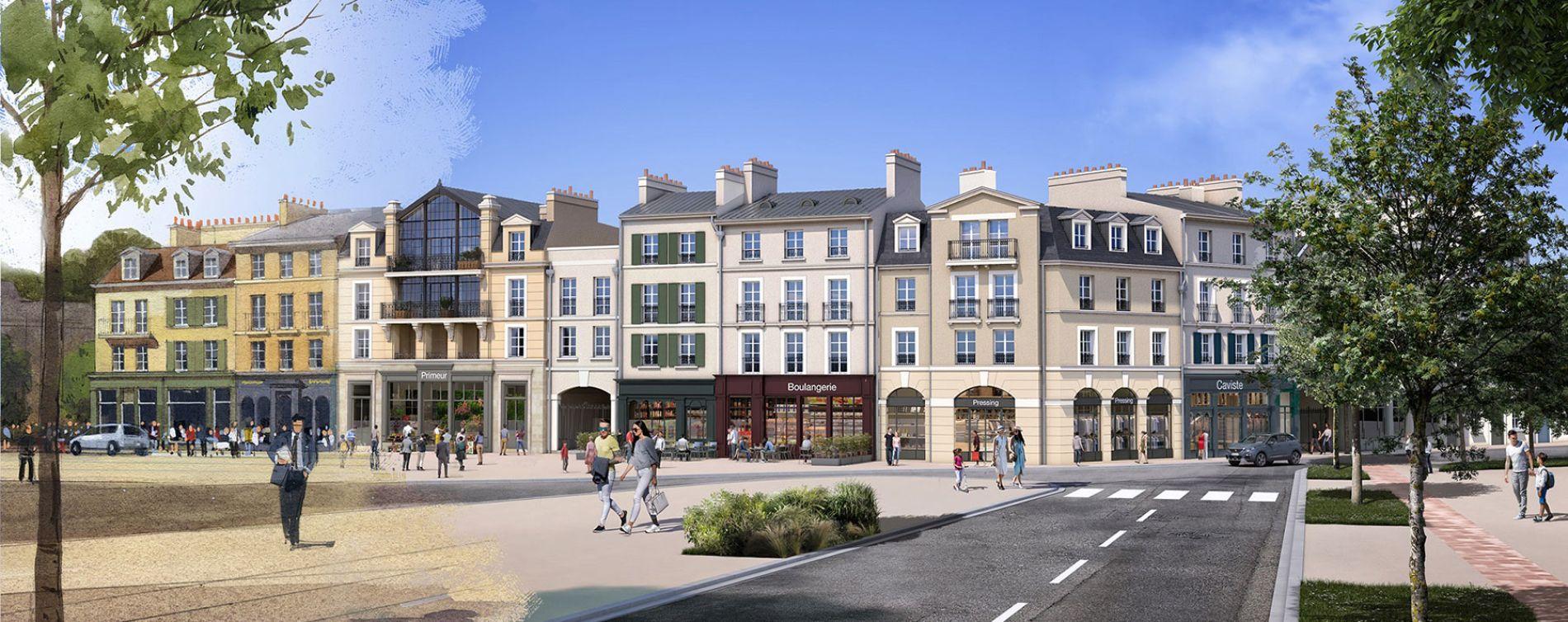 Serris : programme immobilier neuve « Au temps du Faubourg » en Loi Pinel (3)