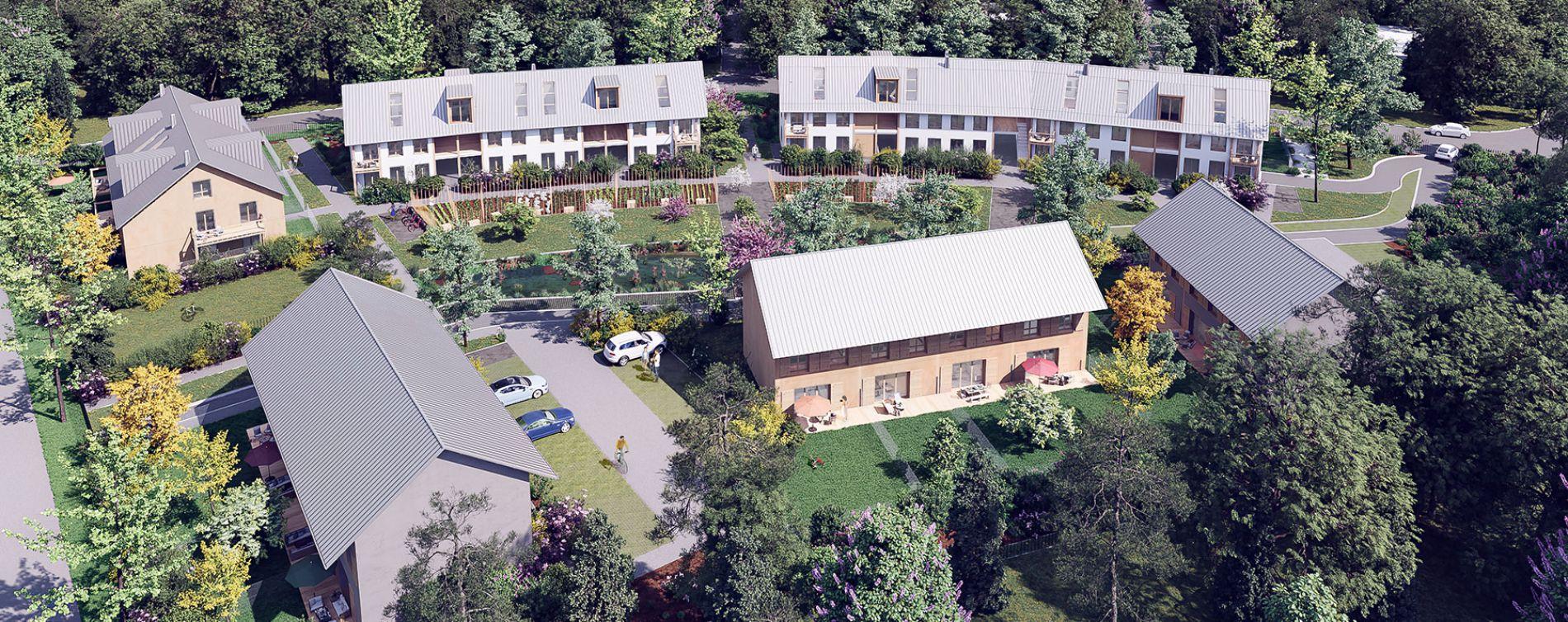Serris : programme immobilier neuve « L'Heure Bleue » en Loi Pinel (4)