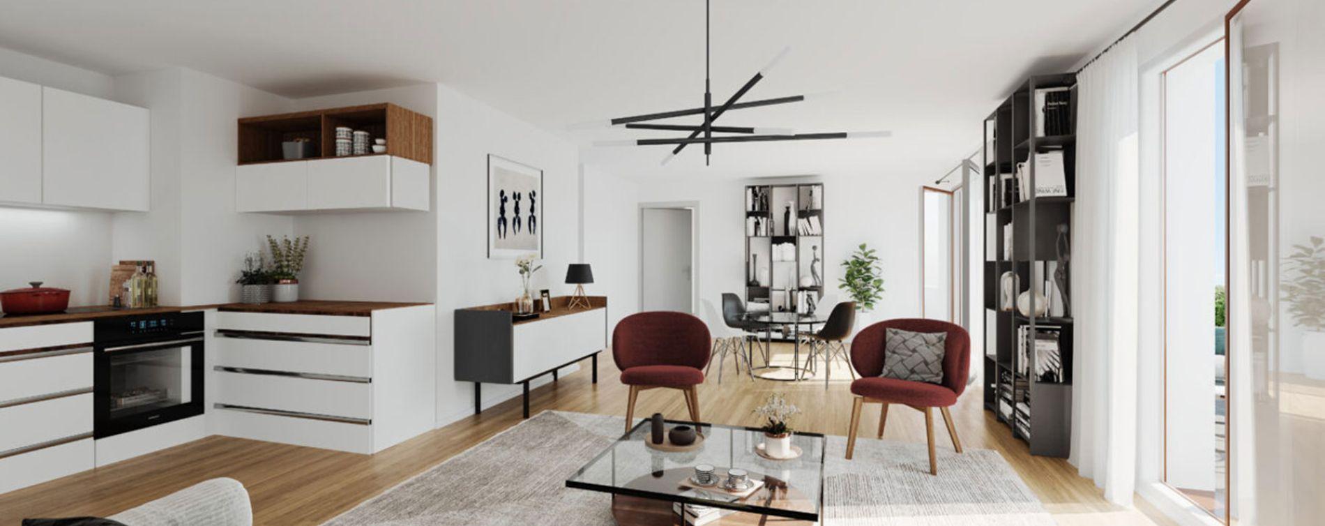 Aubervilliers : programme immobilier neuve « Programme immobilier n°219160 » en Loi Pinel (4)