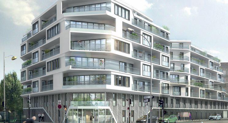 Aubervilliers programme immobilier neuf « Les Reflets Du Canal » en Loi Pinel