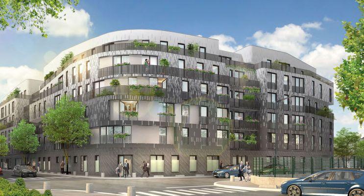 Aubervilliers : programme immobilier neuf « Métropolitan » en Loi Pinel