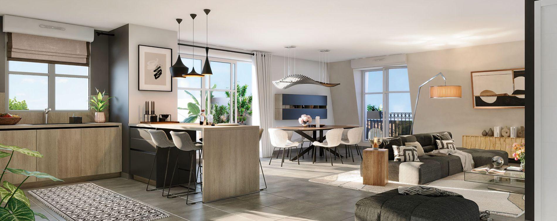 Aulnay-sous-Bois : programme immobilier neuve « Cours Boileau » (3)