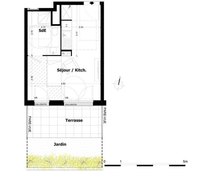 Plan T1 neuf à Aulnay-sous-Bois de