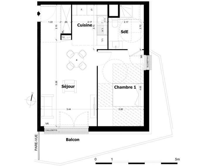 Plan T2 neuf à Aulnay-sous-Bois de