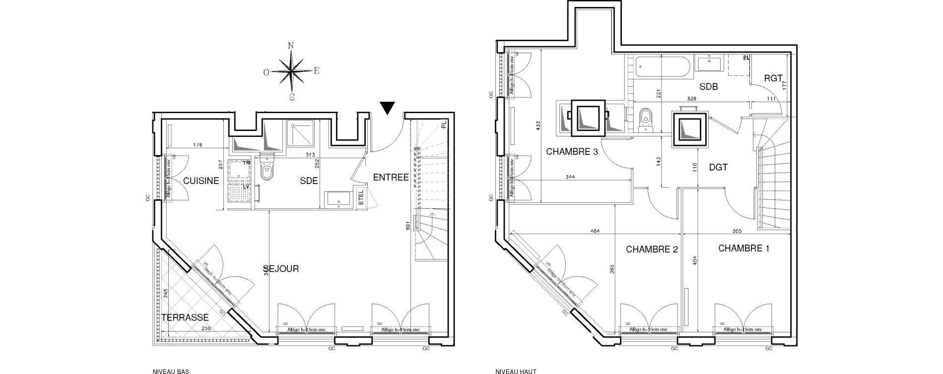 Duplex T4 de 91,03 m2 à Bobigny Centre