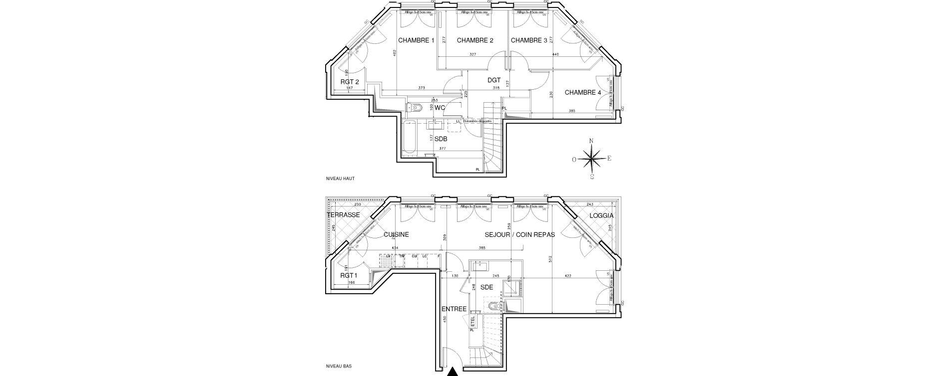 Duplex T5 de 115,05 m2 à Bobigny Centre