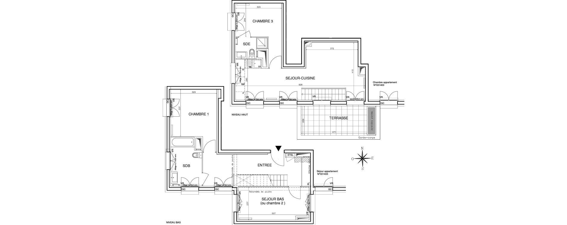 Duplex T4 de 85,05 m2 à Bobigny Centre