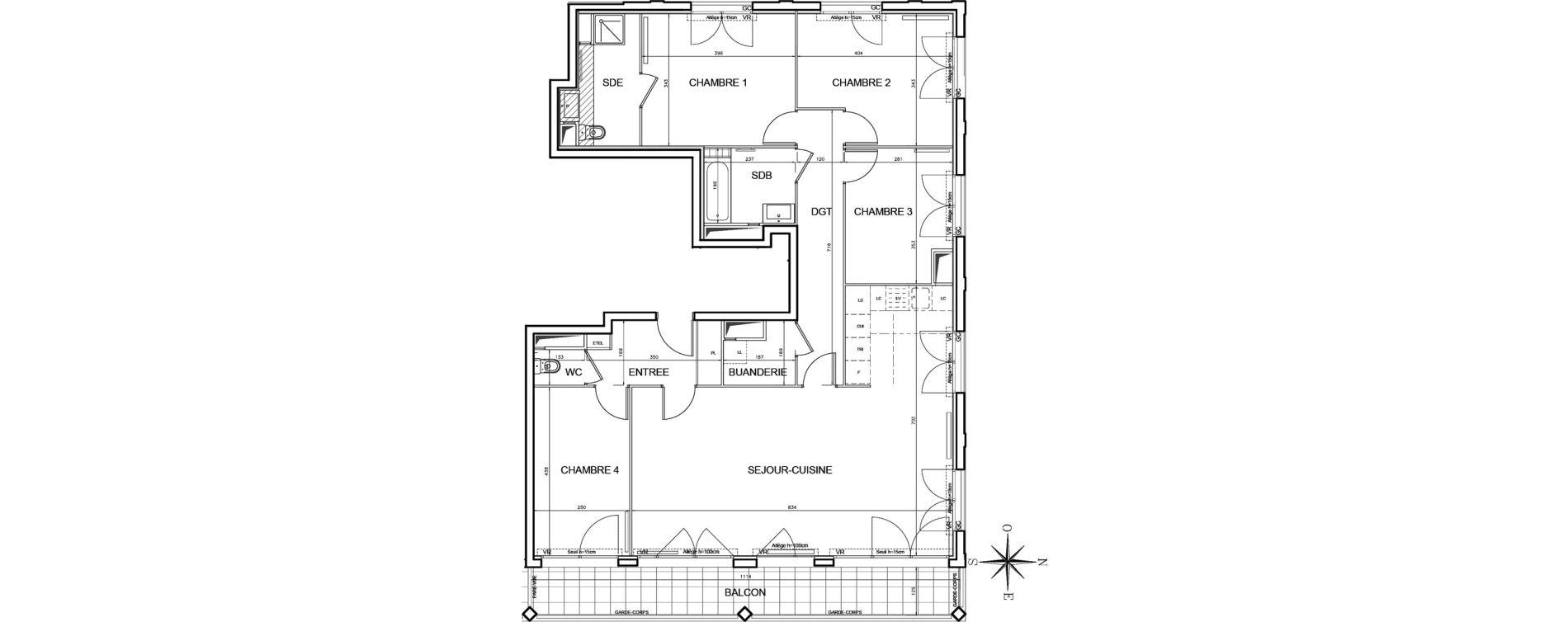 Appartement T5 de 118,46 m2 à Bobigny Centre
