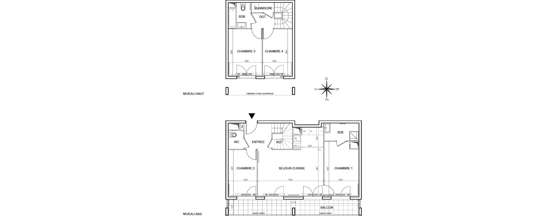 Duplex T5 de 89,58 m2 à Bobigny Centre